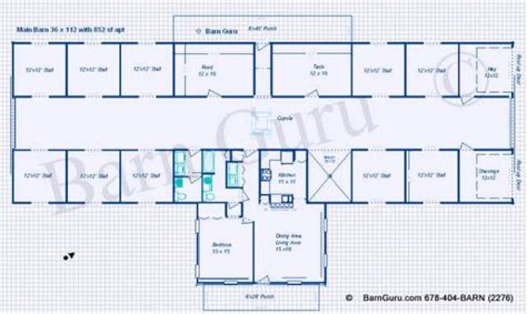 buy blueprints 10 stall horse barn plan blue prints buy horse barn