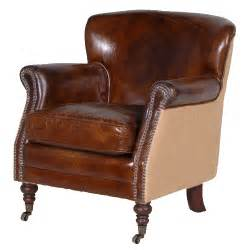 Leather Armchair Gatsby Brown Leather Armchair