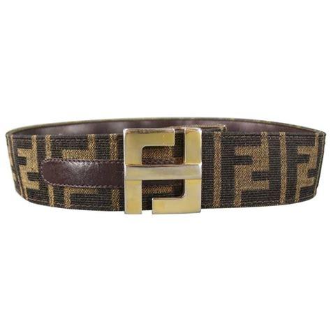 Trendy Fendi Gold Belt by Vintage Fendi S Brown Monogram Canvas Gold Buckle Belt At