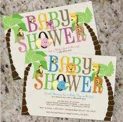 Safari baby shower invitations boy or girl by whirlibird on etsy