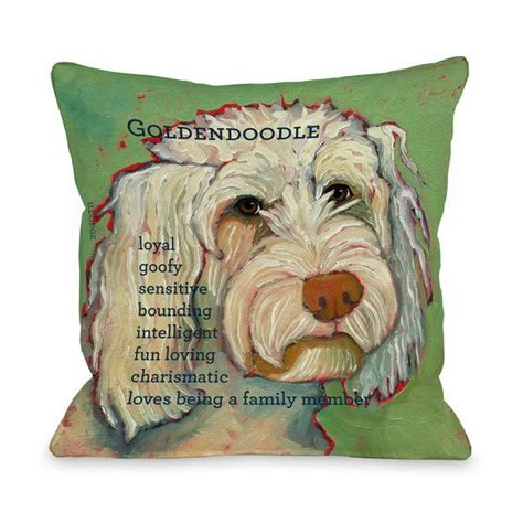 design inspiration pillows goldendoodle pillow green products inspiration and