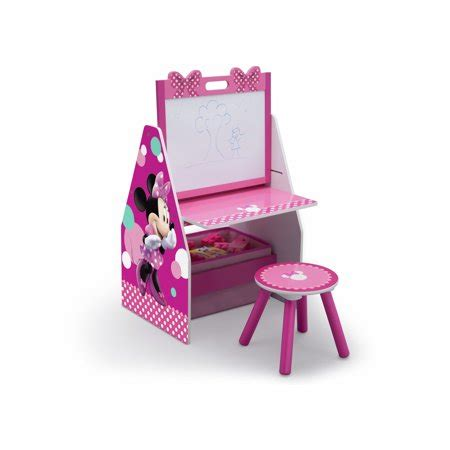Easel Desk With Stool by Disney Minnie Mouse Activity Center Easel Desk With