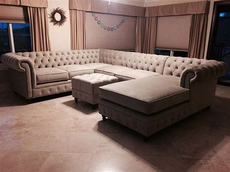 Kenzie Style Custom Chesterfield Sofa Or Sectional Fabric Chesterfield Style Sofa