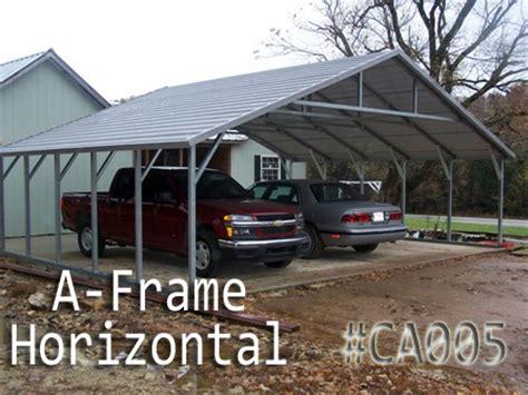 a frame horizontal carports