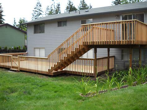 two level backyard two level deck sunset decks by jon wetzel pinterest