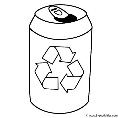 Drink Tin With Symbol Coloring Page Earth Day Can Coloring Page