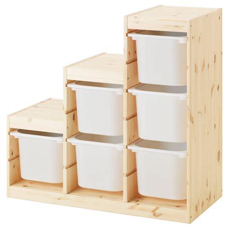 storage chair ikea trofast storage combination light white stained pine white