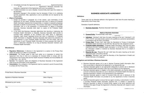 Baa Agreement Template by Business Associate Agreement