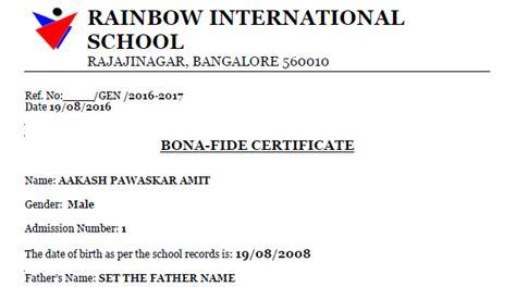 Bonafide Certificate Letter Sle Letter Format 187 Bonafide Letter Format Free Resume Cover And Resume Letter Sles