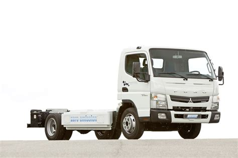 truck mitsubishi canter daimler presents new fuso canter e cell