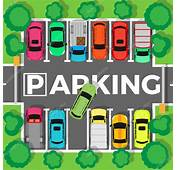 Parking Top View Vector Illustration — Stock