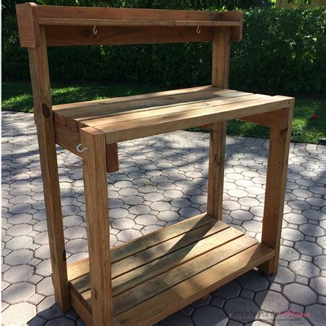 small potting bench build potting bench for your backyard gardening