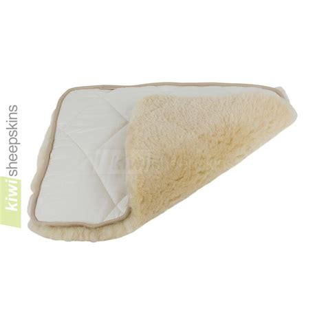 padded sheepskin seat pad for any seat or wheelchairs