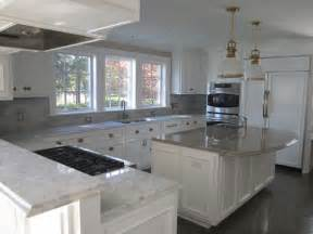 White Kitchen Cabinets With Grey Island » Home Design 2017