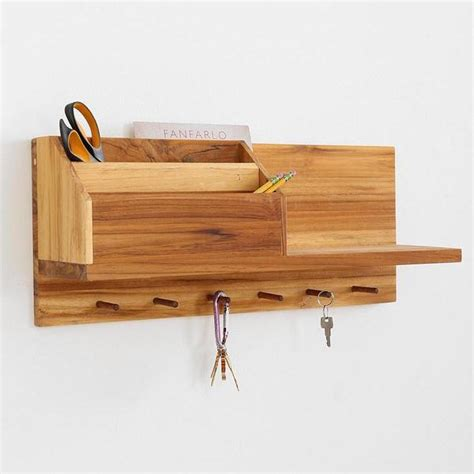 Wooden Shelf For Wall by Entryway Wooden Wall Shelf Gadgetsin