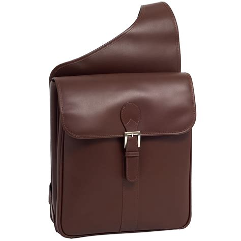 Leather Sling Bag For Macbook Or Notebook Up To 14 By Zapatos Brown mens manarola leather sabotino sling laptop backpack bag by siamod backpacks s bags