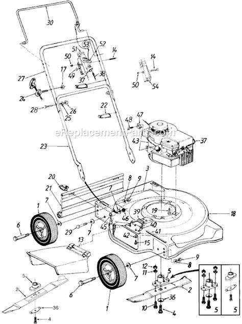 yard machine mower parts diagram yard machines 11a 030a000 parts list and diagram 1997