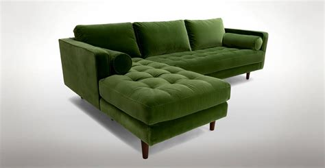Green Sectional Sofa Green Sectional Sofa With Chaise Green Sectional Sofa With Chaise Foter Thesofa
