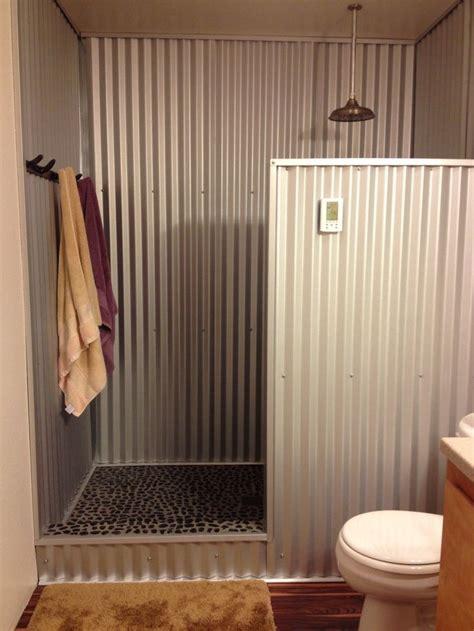 hometalk   barn tin   shower