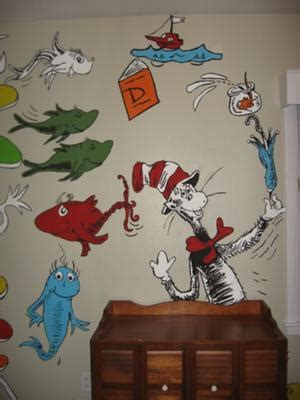 Cat In The Hat Nursery Decor Cat In The Hat Says Hello In Our Baby S Nursery Our Sensational Dr Seuss Nursery Ideas Are