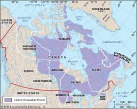 map of canada canadian shield canadian shield shield america britannica