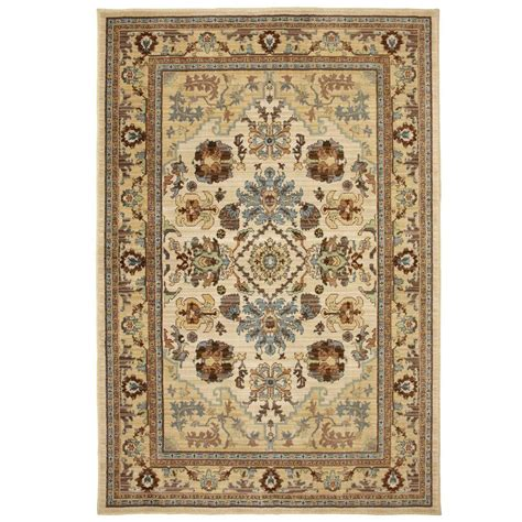decorator rugs home decorators collection charisma butter pecan 8 ft x 10 ft area rug 406356 the home depot
