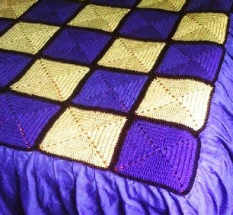 Como Tejer Crochet Para Colcha En Cuadros | mantas de crochet a cuadros y otras colchas tejidas con