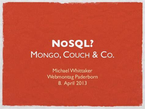 couch nosql nosql mongo couch und co