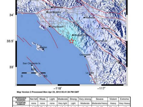 earthquake orange county are orange county residents clueless about quake risk