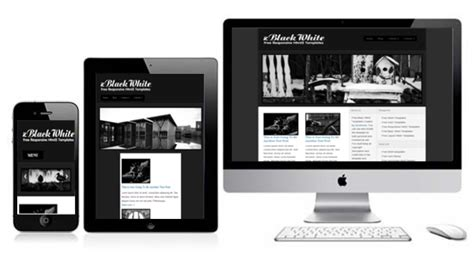 free simple responsive html5 template zblackwhite free responsive html5 theme zerotheme