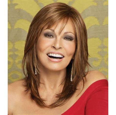off the face medium length hairstyles star quality wig a straight long layered cut with