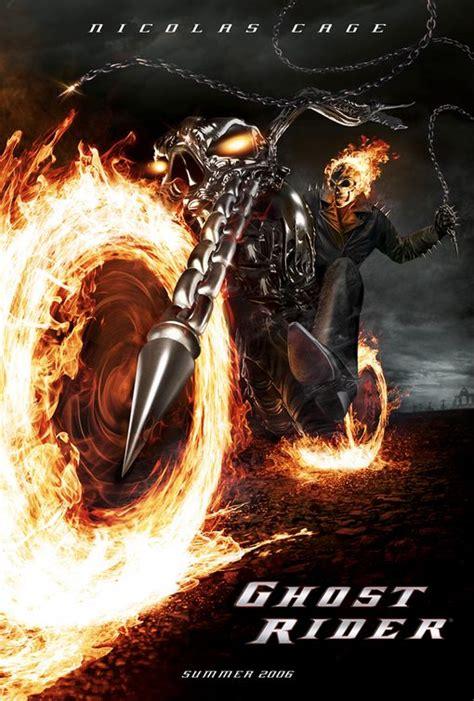 film cu nicolas cage ghost rider poster ghost rider 2007 poster demon pe două roți