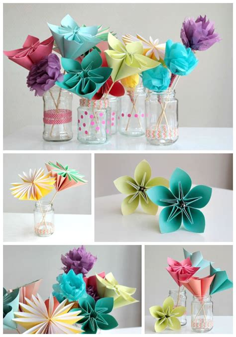 Learn To Make Paper Flowers - pin by jenkins on craft ideas