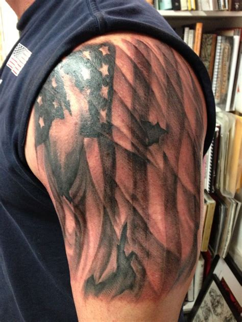 patriotic half sleeve tattoo designs american flag tattoos flags
