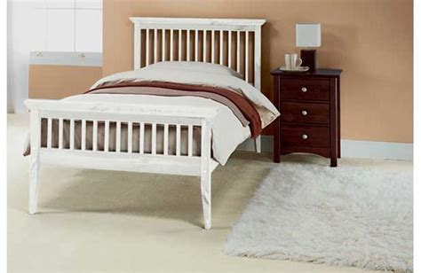 White Wooden Single Headboard by Single Bed Wood Frame New 3ft Shaker White Ebay