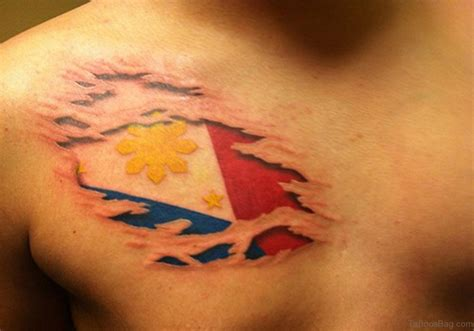 pinoy tattoo design 57 classic flag tattoos on chest