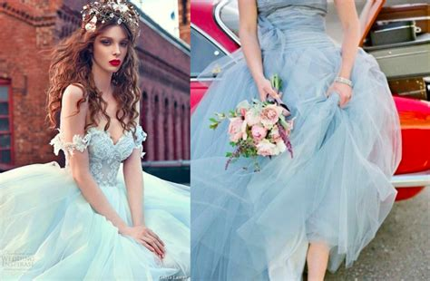 nontraditional bridesmaid chagne and blue non traditional wedding dresses guides for brides