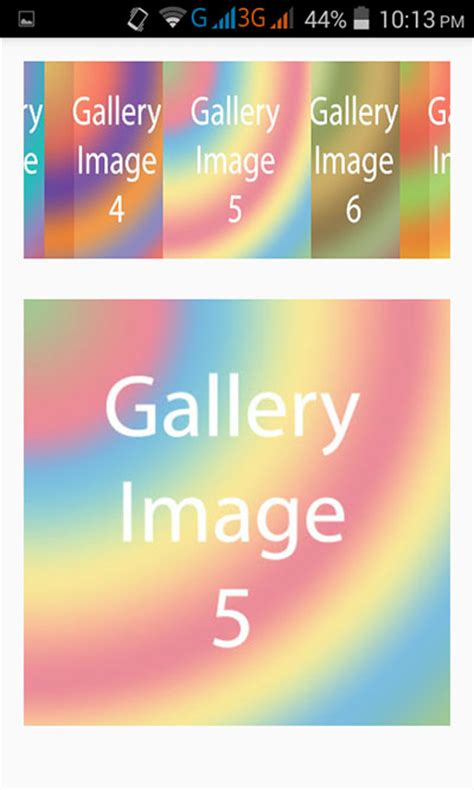 android gallery create image gallery view in android application exle tutorial android exles