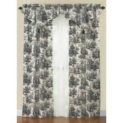 Waverly Toile Curtains Shop Waverly Country 84 In L Black Rod Pocket Curtain Panel At Lowes
