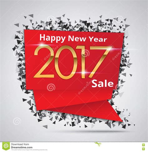 new year sales instrumental new year sale 2017 creative sale tag or paper banner