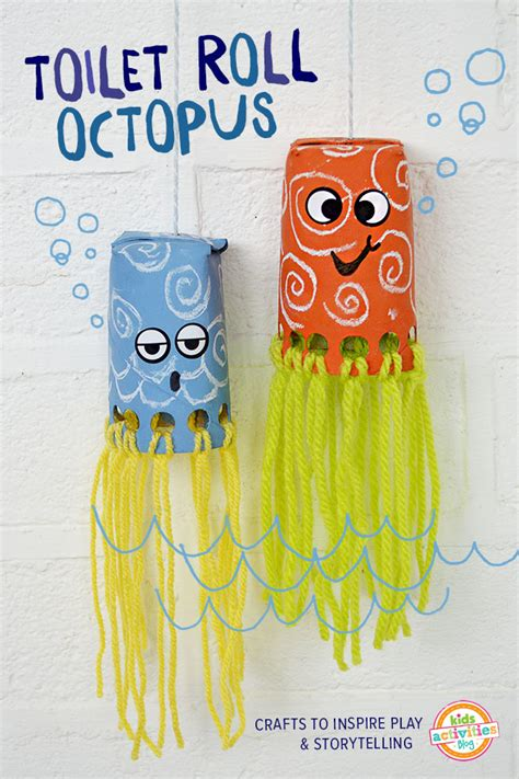 Crafts Using Toilet Paper Rolls - toilet roll crafts for wiggly octopus friends