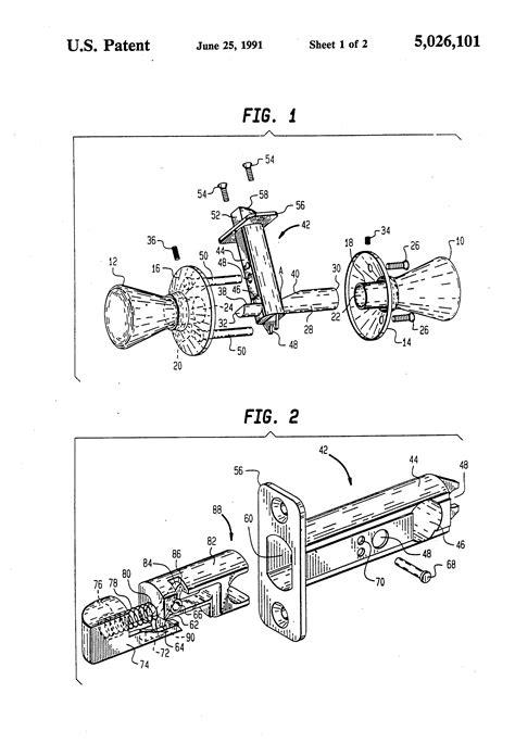 latch diagram door handle parts diagram imageresizertool