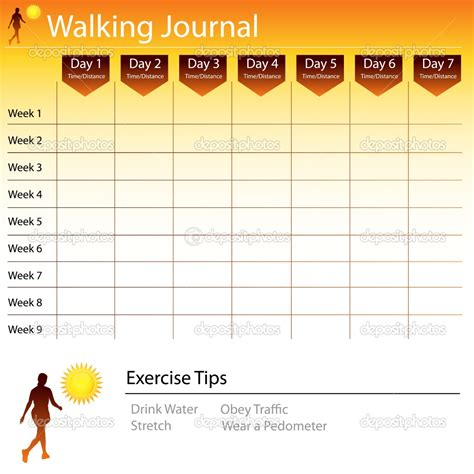 relay for walking schedule template free printable walking log chart walking journal chart