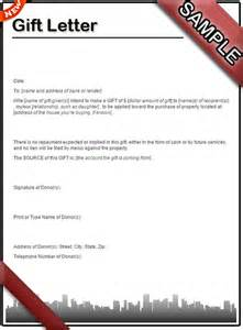 how to write a gift letter sle