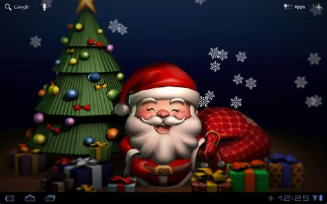 How To Make A 3d Santa Out Of Paper - smiling santa 3d livewallpaper android apps on play