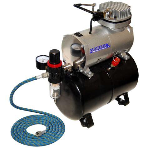 powerful master airbrush air compressor w air tank regulator filter free hose