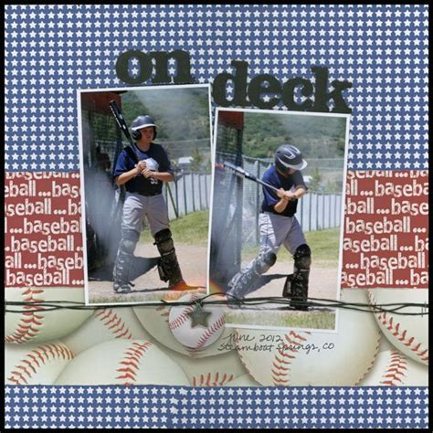 scrapbook layout baseball 1000 images about scrapbook on pinterest football