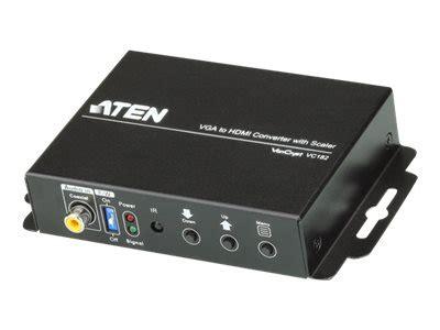 Converter Aten Hdmi To Vga Converter With Scaler Vc812 aten vc182 vga to hdmi converter with scaler comms express