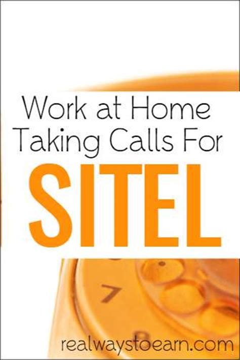 work at home taking calls for sitel