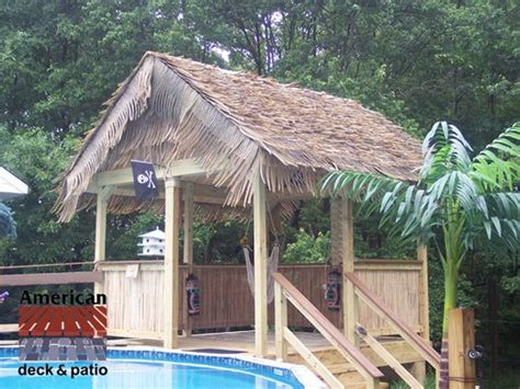 Tiki Hut House by Tiki Hut Pool Houses And The Roof On